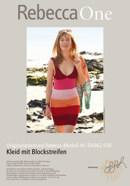Strickmuster - Kleid mit Blockstreifen