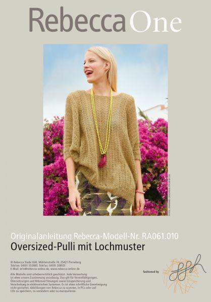 Oversized-Pulli mit Lochmuster