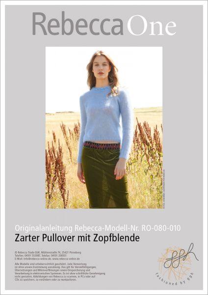 Anleitung - Zarter Pullover mit Zopfblende