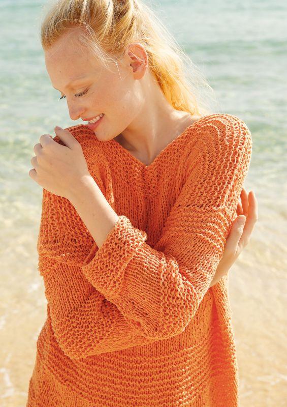 Farbenfroh: Pullover mit Querrippen