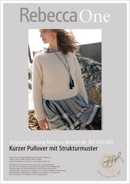 Anleitung - Kurzer Struktur-Pullover