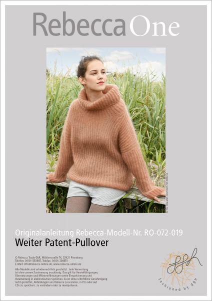 Strickanleitung - Weiter Patent-Pullover
