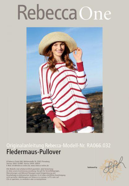 Fledermaus-Pullover mit Ringeln