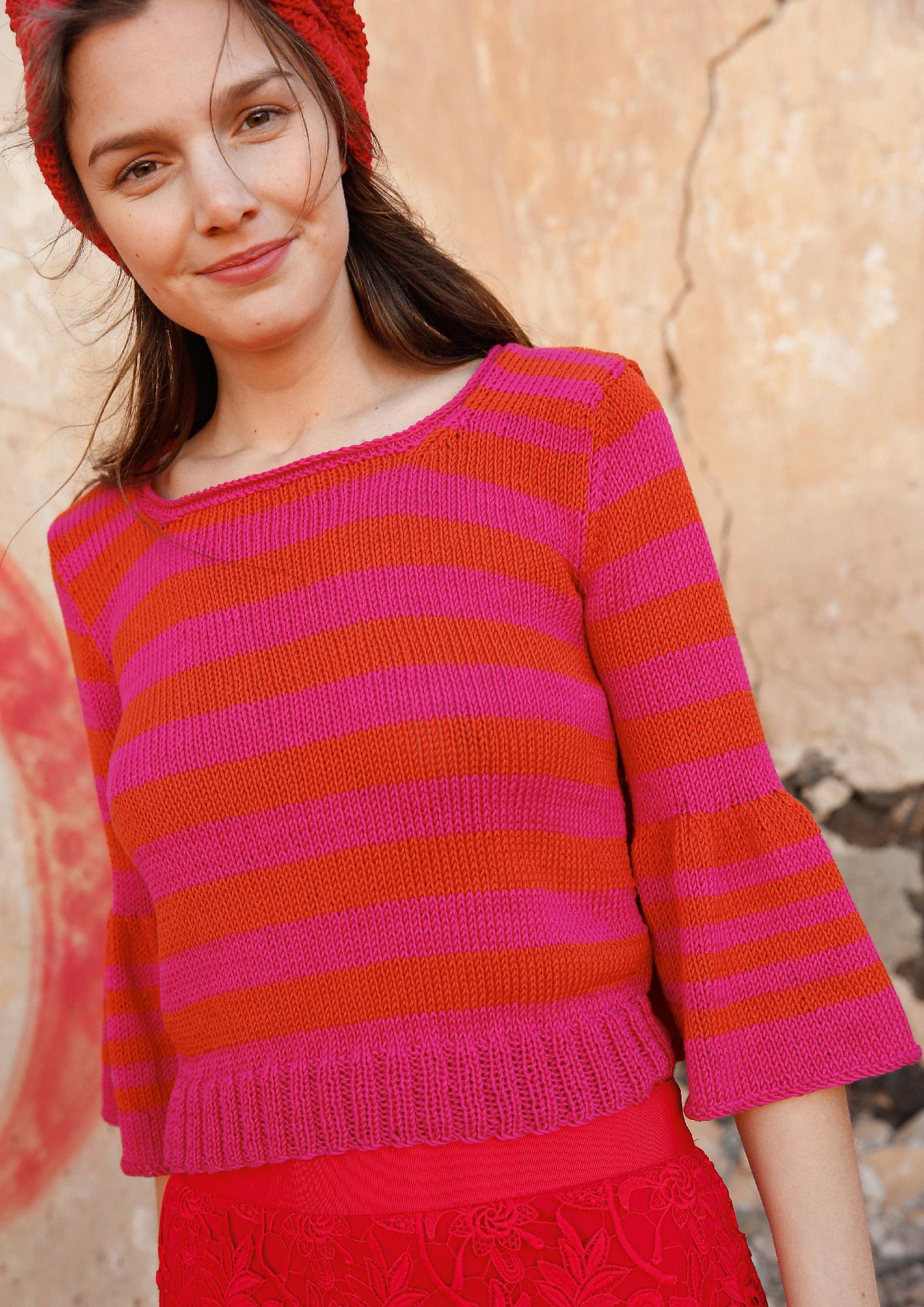 Strickanleitung Pullover mit weiten Ärmeln