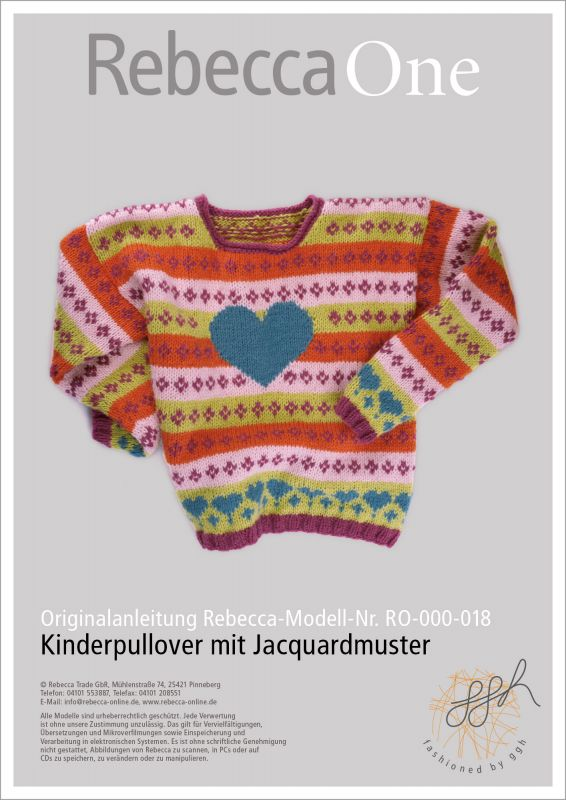 Strickanleitung: Kinderpullover mit Jacquardmuster