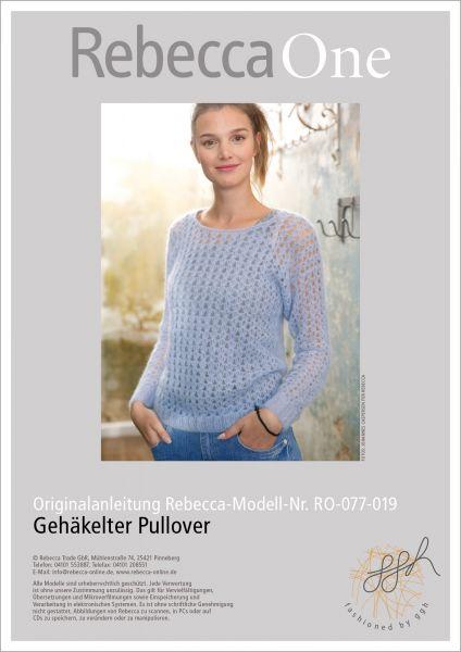 Strickanleitung - Gehäkelter Pullover