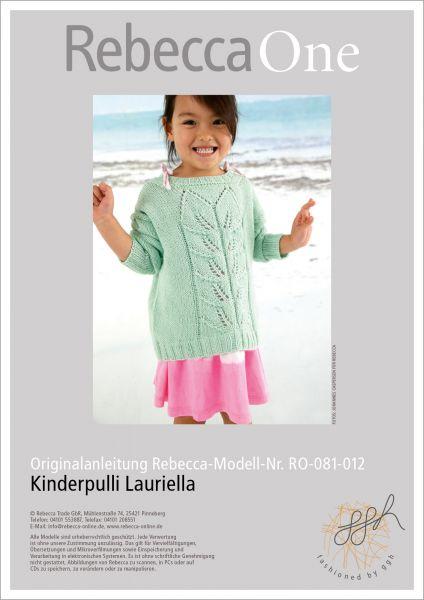 Anleitung - Kinderpulli Lauriella