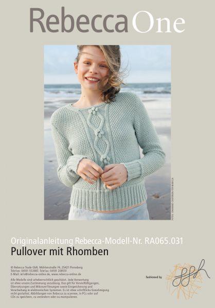 Pulllover mit Rhomben