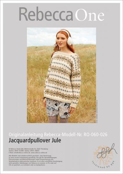 Anleitung - Jacquardpullover Jule