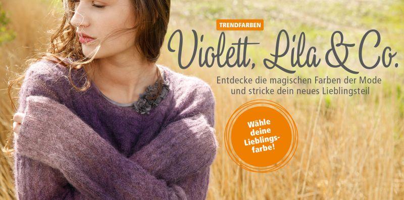 Lila Violett - Strickmode in Trendfarben des Jahres 2018