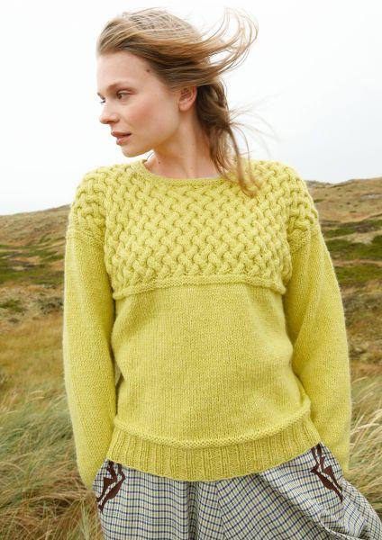 Pullover mit verzopfter Passe