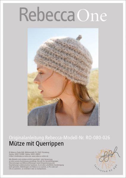 Anleitung - Mütze mit Querrippen