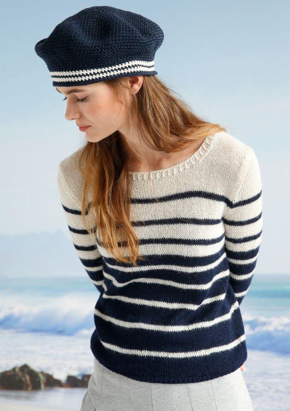 Neue Marine-Look: Pullover mit Ringeln stricken