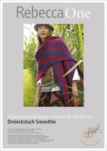 Anleitung - Dreieckstuch Smoothie