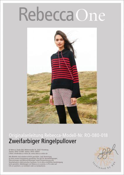 Anleitung - Zweifarbiger Ringelpullover