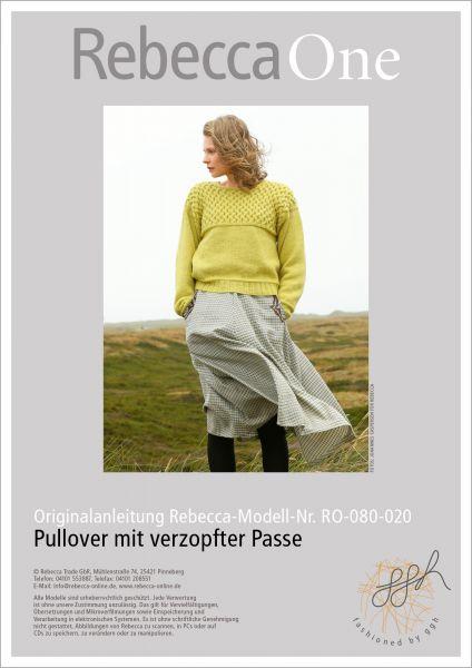 Anleitung - Pullover mit verzopfter Passe