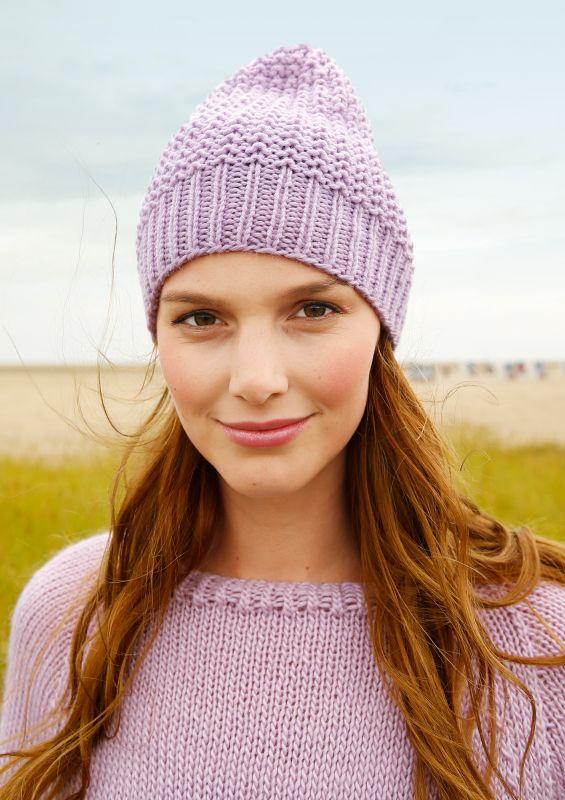 Strickanleitung und Strickset für Strickanfänger: Mütze stricken