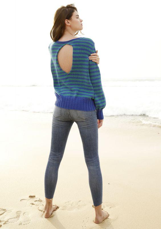 Meeresfarben: Pullover mit Ringeln