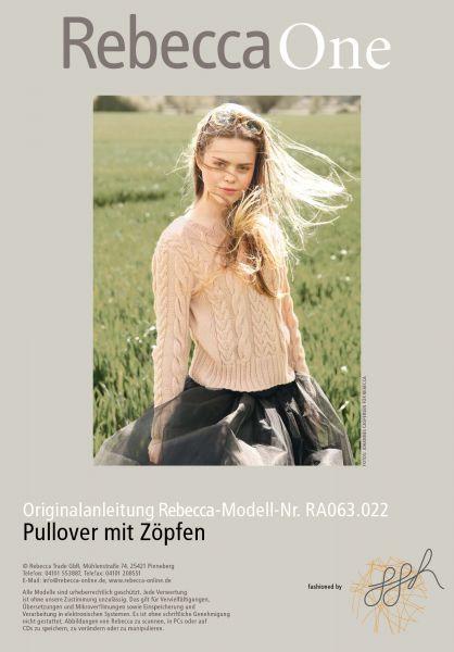 Pullover mit Zöpfen