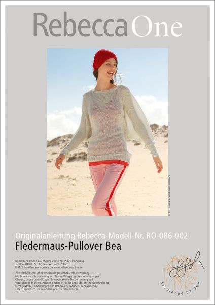 Strickanleitung – Fledermaus Pullover Bea