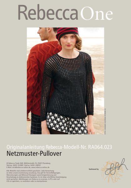Netzmuster-Pullover