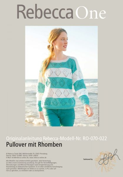 Strickmuster - Pullover mit Rhomben