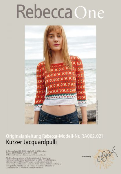 Kurzer Jacquardpulli
