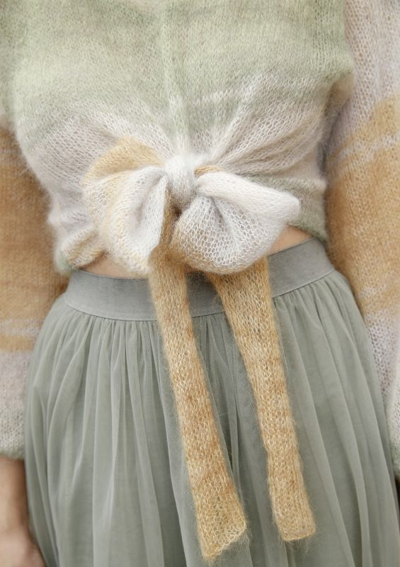 Kurzer Pullover aus Mohair