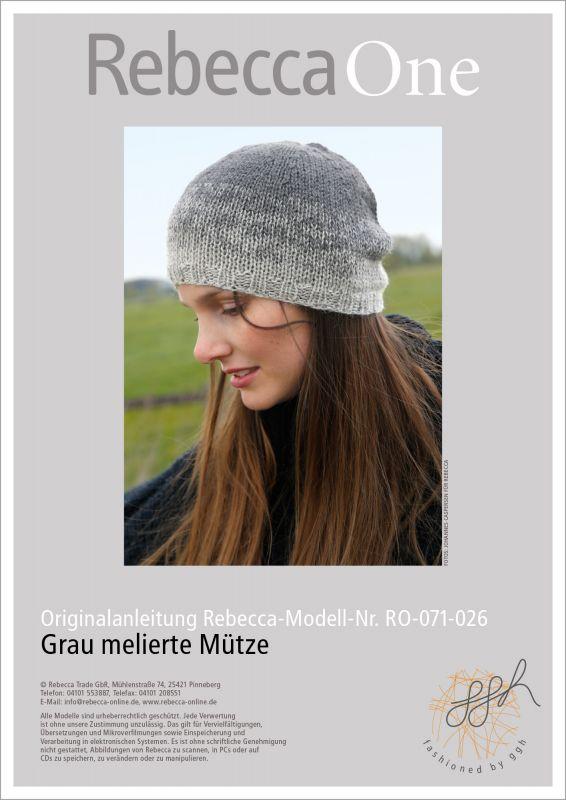 Strickmode in Trendfarbe Grau: kostenlose Strickanleitung Mütze