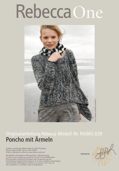 Poncho mit Ärmeln