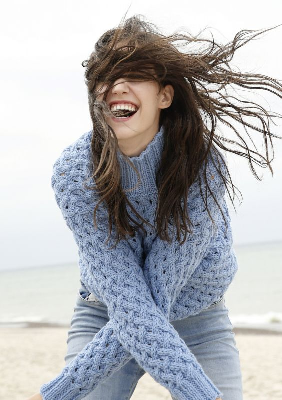 Kollektion Frische Brise von der Küste: Pullover mit Flechtmuster