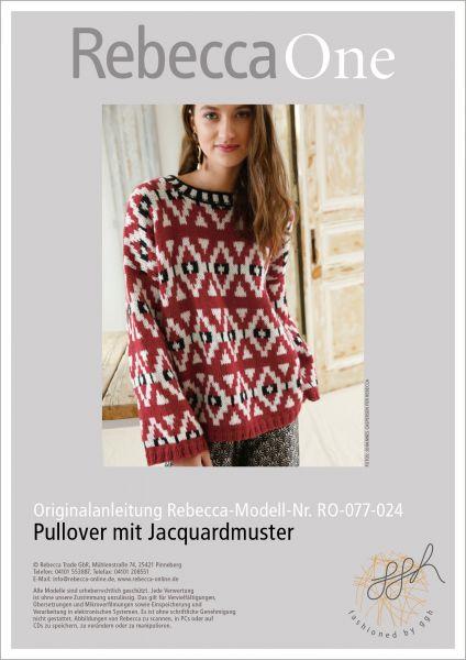 Strickanleitung - Pullover mit Jacquardmuster