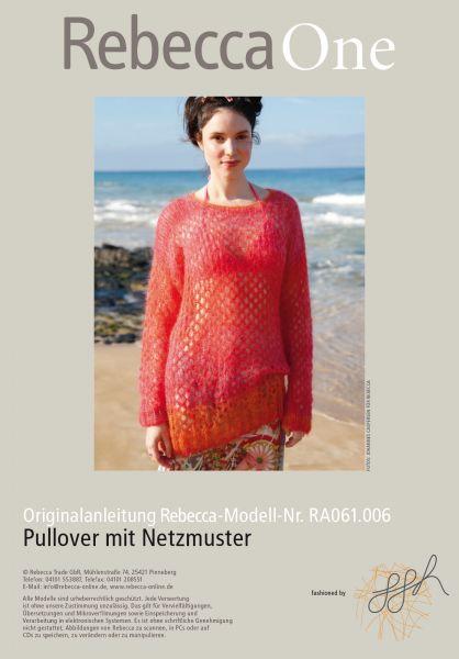 Pullover mit Netzmuster