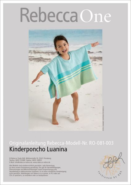 Anleitung - Kinderponcho Luanina