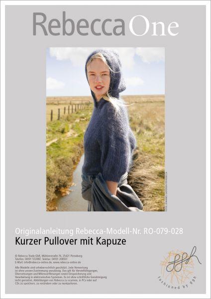 Anleitung - Kurzer Kapuzen-Pullover