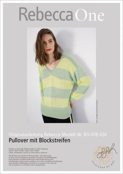 Anleitung - Pullover mit Blockstreifen