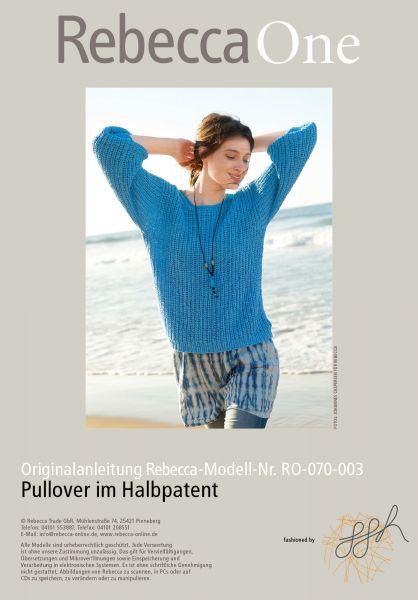 Strickmuster - Pullover im Halbpatent