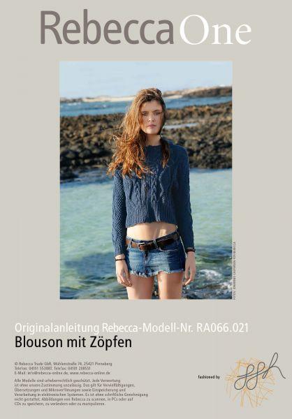 Blouson mit Zöpfen