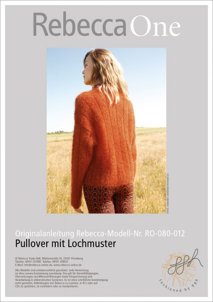Anleitung - Pullover mit Lochmuster