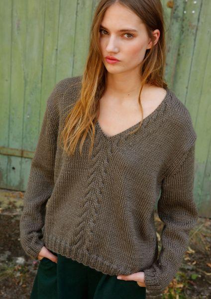 Strickanleitung - Pullover mit V-Ausschnitt