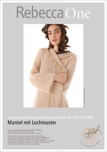 Anleitung - Mantel mit Lochmuster