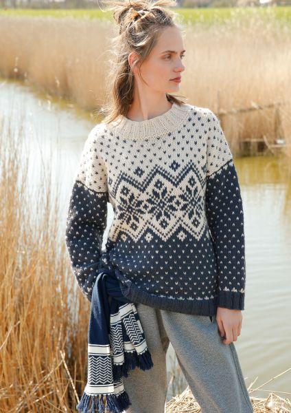 Jacquard-Pullover