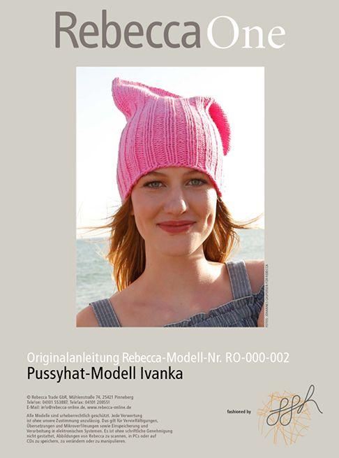 Pussyhat kostenlose Strickanleitung: Modell Ivanka