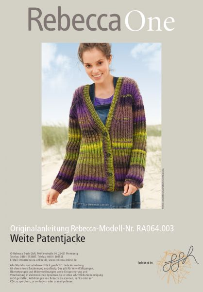 Weite Patentjacke