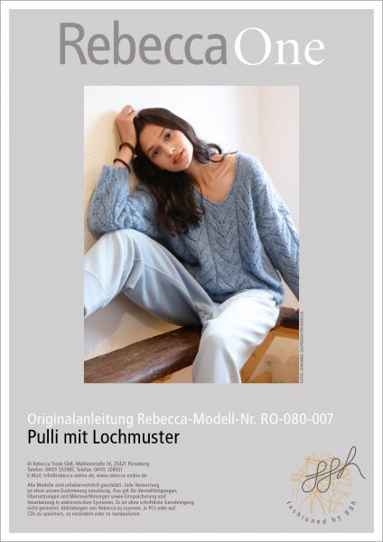 Anleitung - Pulli mit Lochmuster