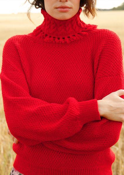 Strickanleitung - Pullover im Perlmuster