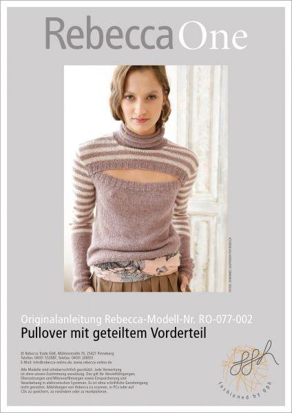 Anleitung - Pullover mit geteiltem Vorderteil