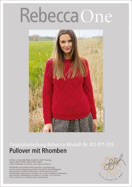 Strickanleitung - Pullover mit Rhomben