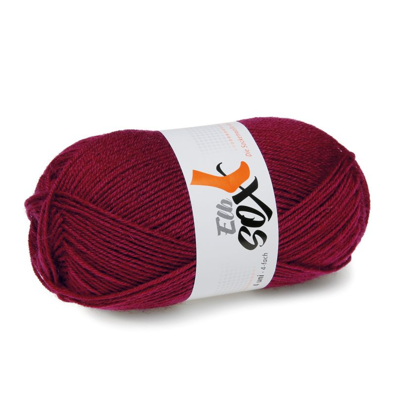 ElbSox 4fach Uni rot