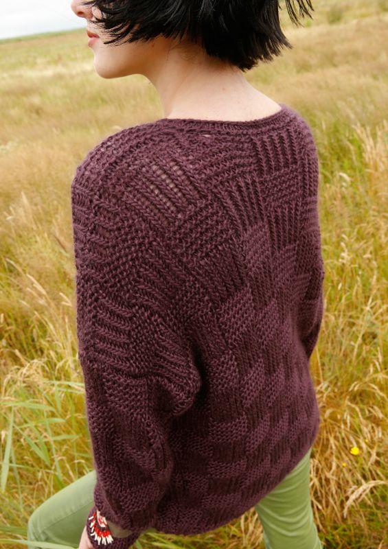Pullover aus Mohair-Seide mit Webmuster stricken